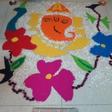 Primary Rangoli Making 2015