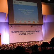 MISB Students receiving Outstanding Cambridge Learner Awards at Bangkok Patana School 22.11.17