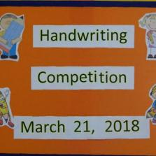 EYFS Hand writing Competition 21-3-18